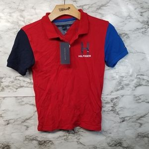 Tommy Hilfiger Boys Polo Shirt Red Sz 6 New
